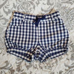 Baby Gap Blue Checkered Cotton Shorts Sz4